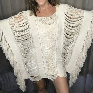 Gorgeous Handloomed Cotton Tunic from Tulum Mexico